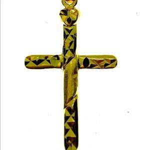 18kt Gold Cross Pendant